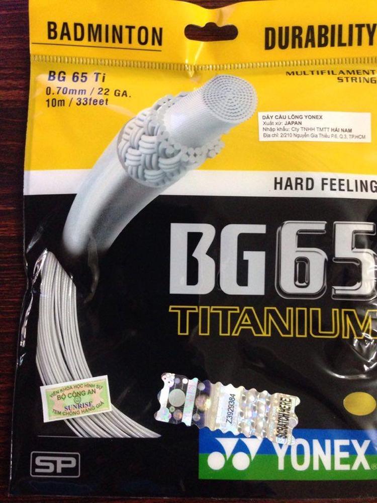 Dây cước căng vợt Yonex BG 65 TITANIUM