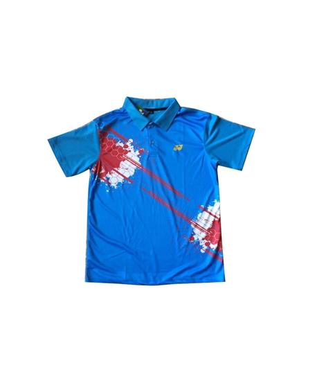 Áo Cầu Lông Yonex Training có cổ xanh dương 2016