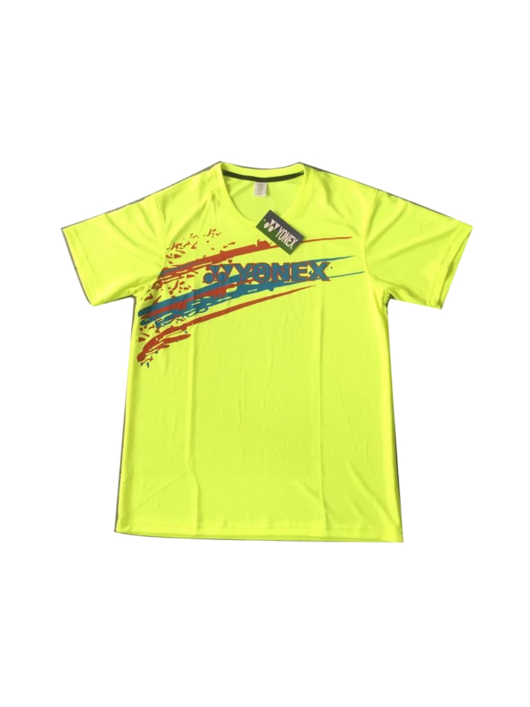 Áo Cầu Lông Yonex Training Nam xanh chuối phối hình 2017