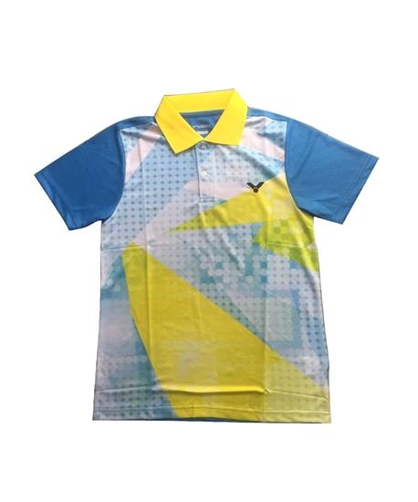 Picture of Áo cầu lông Victor 5046A xanh dương cổ vàng