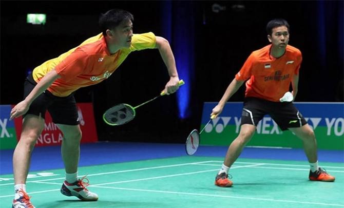 Giải cầu lông DAIHATSU YONEX Japan Open 2017 - Trận đôi nam giữa Hendra SETIAWAN/TAN Boon Heong vs CHEN Hung Ling/WANG Chi Lin