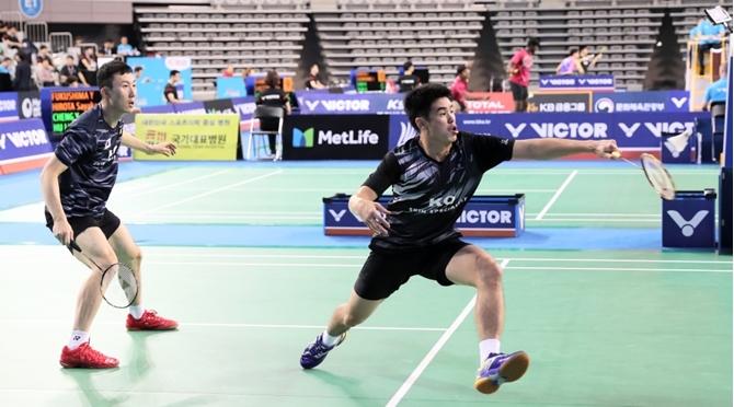 Góc quay đẹp giải cầu lông Victor Korea Open 2017 - Trận đôi nam giữa Yoo Yeon Seong/Lim Khim Wah vs Yugo Kobayashi/Takuro Hoki