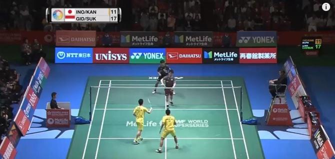 Highlights trận chung kết đôi nam giữa Kevin Sanjaya SUKAMULJO/Marcus Fernaldi GIDEON v.s Takuto INOUE/Yuki KANEKO tại giải Japan Open 2017