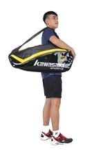 Hình ảnh củaTúi vợt Cầu Lông Kawasaki 8667 Đen vàng
