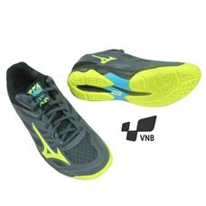 Giày cầu lông Mizuno Thunder Blade - Xanh Vàng Đen