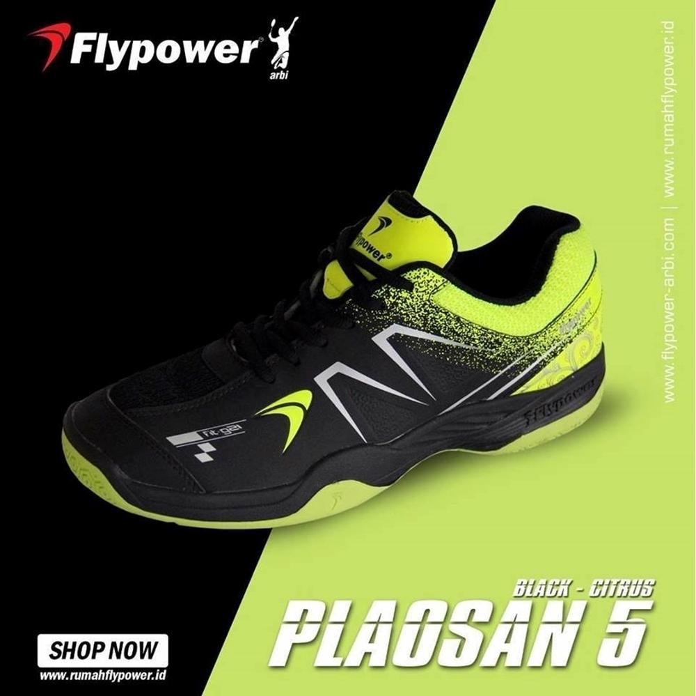 Giày cầu lông Flypower Plosan 5 - Đen xanh