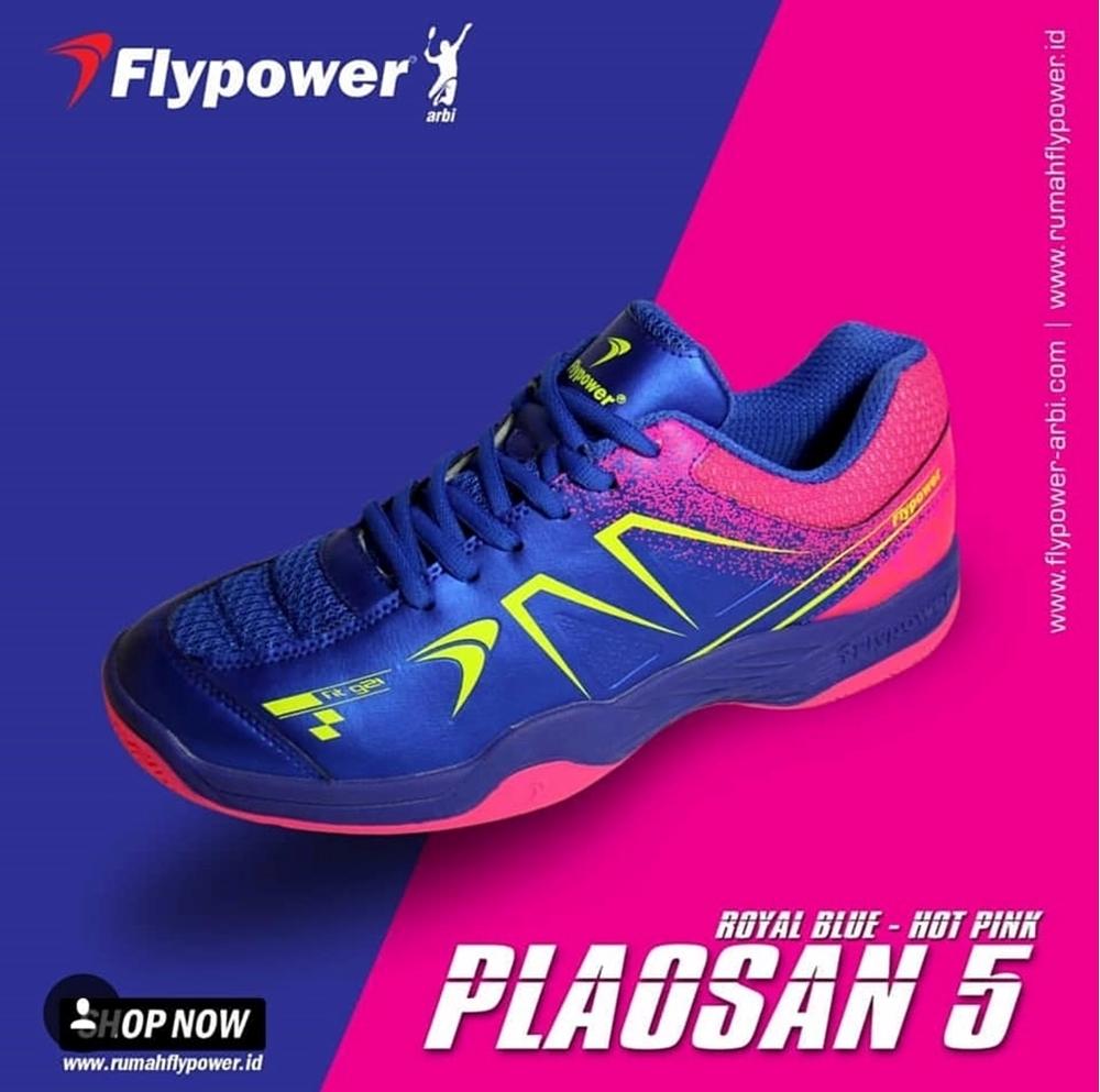 Giày cầu lông Flypower Plosan 5 - Xanh hồng