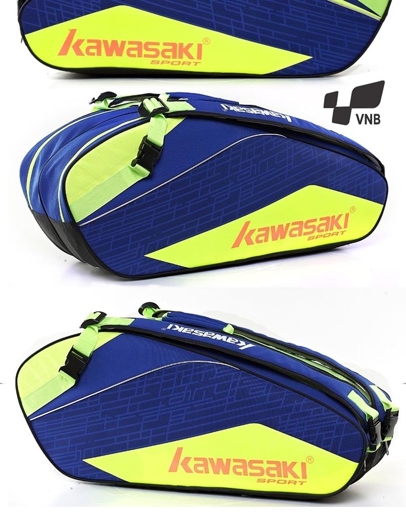 Túi vợt cầu lông Kawasaki 8673 - Xanh