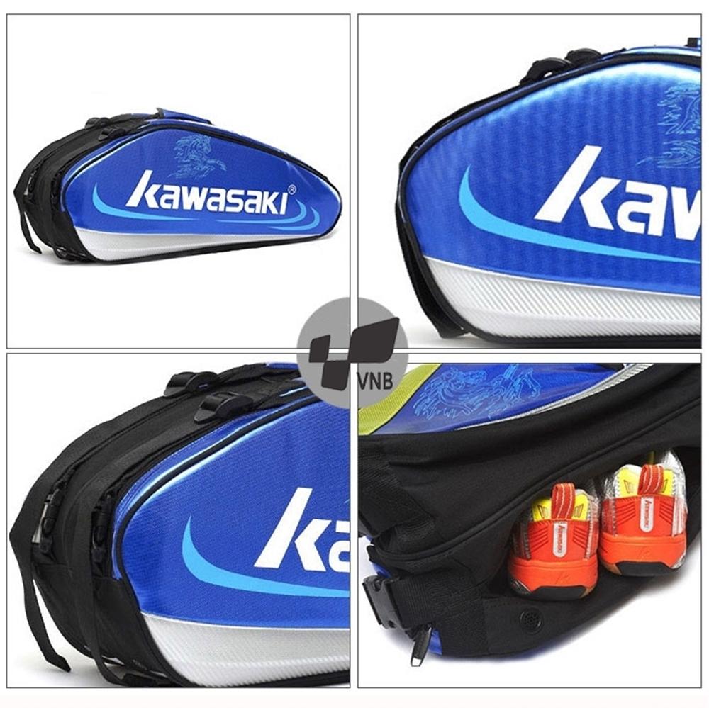 Túi vợt cầu lông Kawasaki 8630 - Xanh