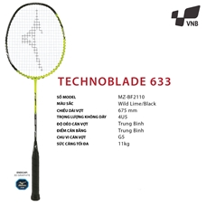 Vợt cầu lông Mizuno Technoblade 633 - Đen vàng