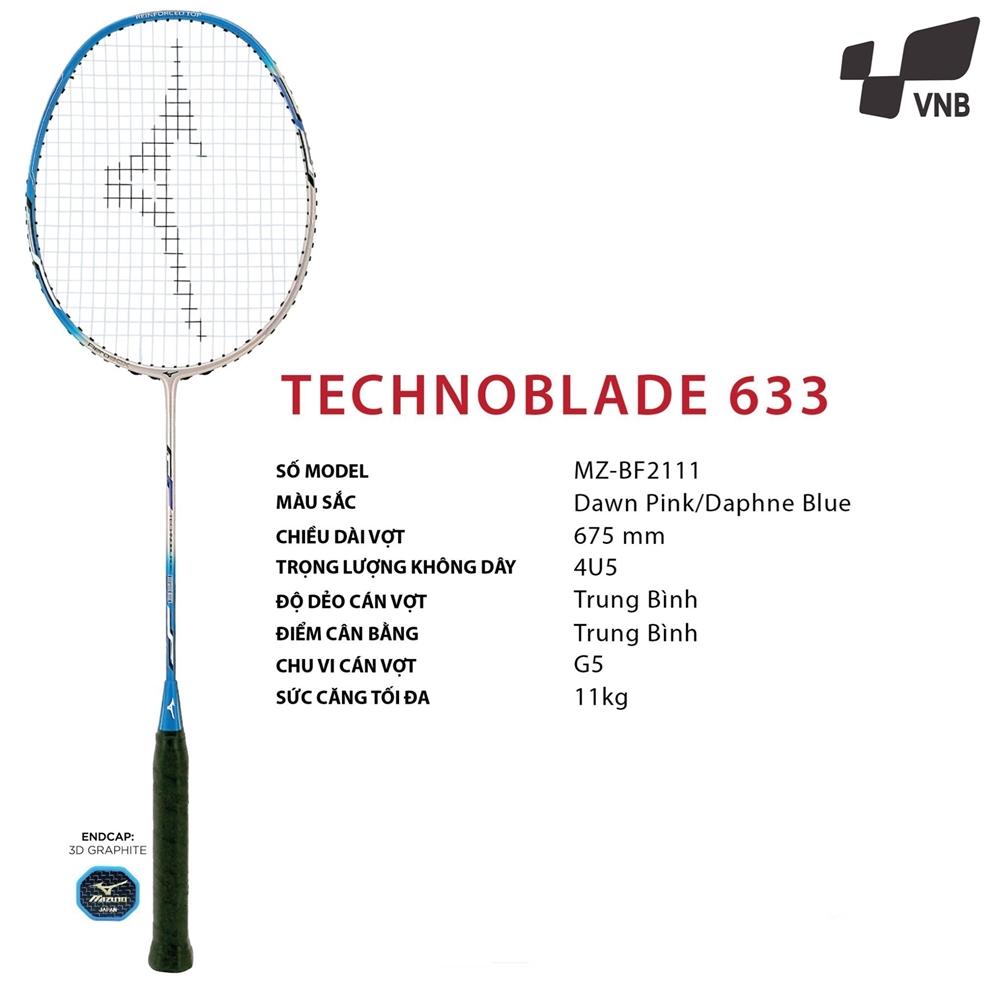 Vợt cầu lông Mizuno Technoblade 633 Xanh