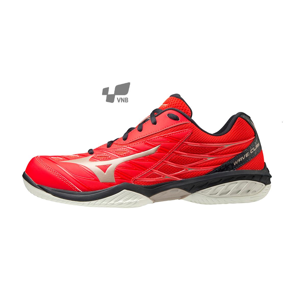Giày cầu lông Mizuno Wave Claw - Đỏ xanh đen chính hãng