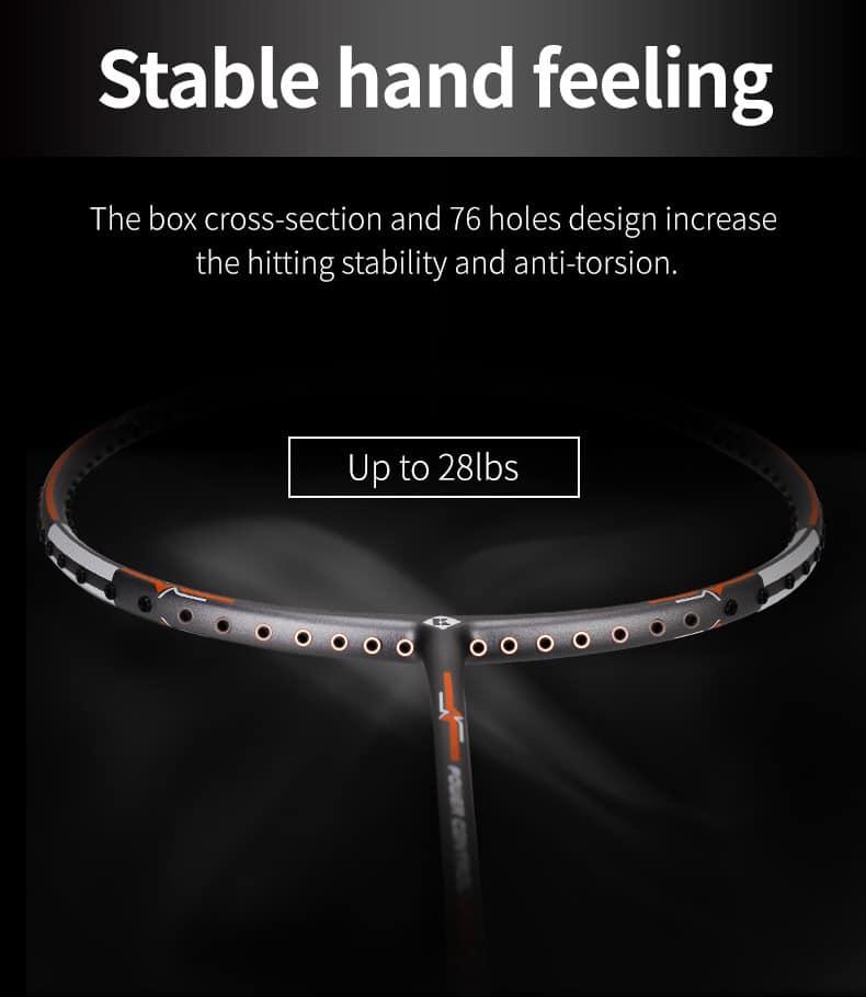 Stable hand feeling - Vợt cầu lông Kumpoo Power Control K520 trắng chính hãng