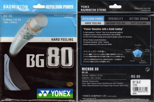 Dây cước căng vợt Yonex BG 80 - Cuộn 200m