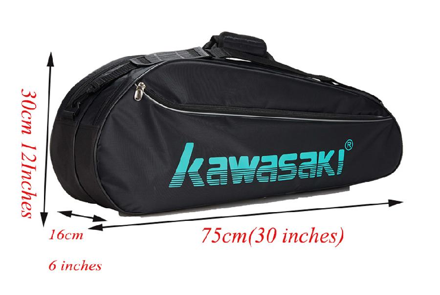 Túi vợt cầu lông Kawasaki 8308 đen xanh chính hãng
