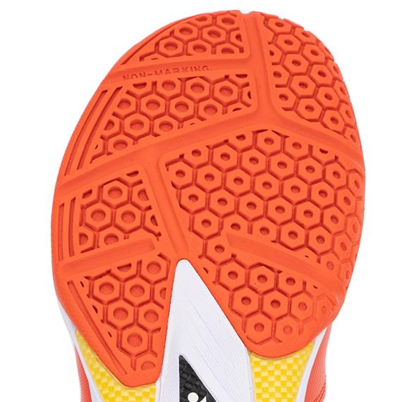 HEXAGRIP - Giày cầu lông Yonex SHB 65X2W Trắng cam
