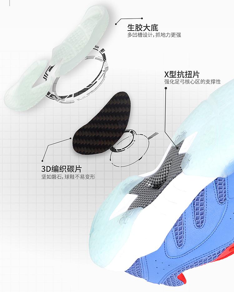 RCT Grip - Giày cầu lông Kumpoo KH-E25 xanh chính hãng