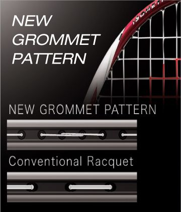 NEW GROMMET PATTERN - Vợt cầu lông Yonex Nanoflare 380 (MATBK) chính hãng