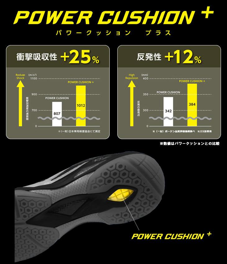 POWER CUSHION + - Giày cầu lông Yonex SHB 65X2W Trắng cam